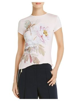 Lorrene Butterscotch Tee   100 Percents Exclusive by Ted Baker