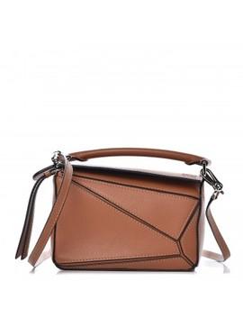 Loewe Calfskin Mini Puzzle Bag Tan by Loewe