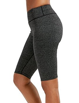 Sipaya Women Yoga Shorts High Waist Knee Length Leggings Hidden Pocket S Xl by Sipaya