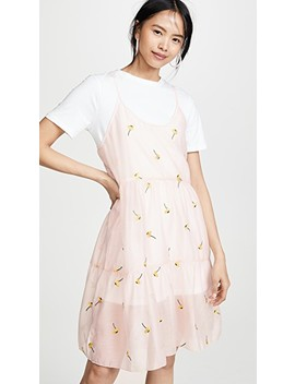 Shirred Slip T Shirt Dress by English Factory