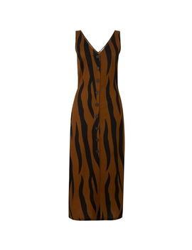 Animal Pique Button Midi Dress by Warehouse