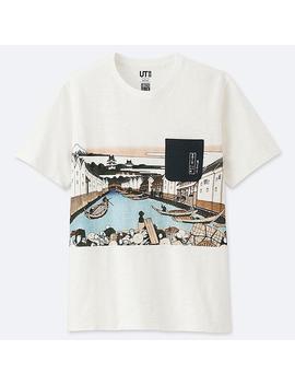 Men Hokusai Blue Graphic Print T Shirt by Uniqlo