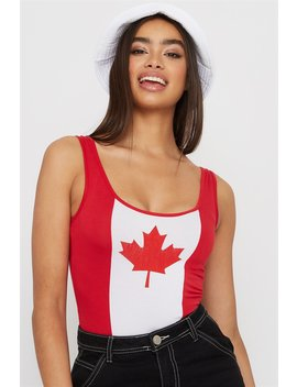 Canada Day Flag Bodysuit by Urban Planet