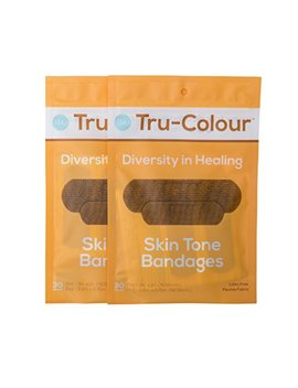 Tru Colour Skin Tone Bandages: Brown Dark Brown 2 Pack (60 Count; Orange Bag) by Tru Colour