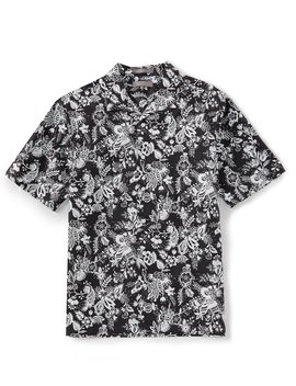 Daniel Cremieux Signature Floral Print Short Sleeve Woven Camp Shirt by Cremieux