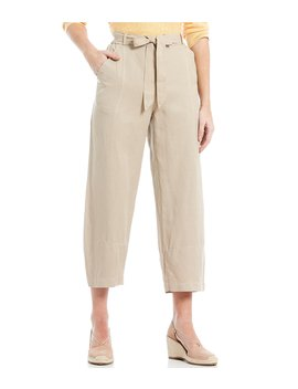 Lantern Tie Waist Ankle Pants by Eileen Fisher