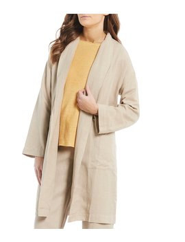 High Pleated Collar Jacket by Eileen Fisher