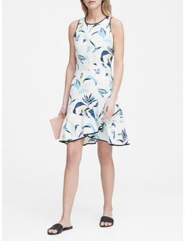 Floral Ruffle Wrap Racerback Dress by Banana Repbulic