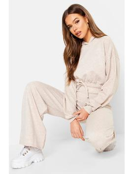 Draw Cord Hoody & Wide Leg Jogger by Boohoo