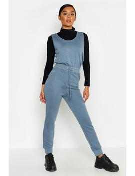 Sleeveless Sweat Jumpsuit by Boohoo