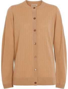 Rib Knit Cashmere Cardigan by Burberry