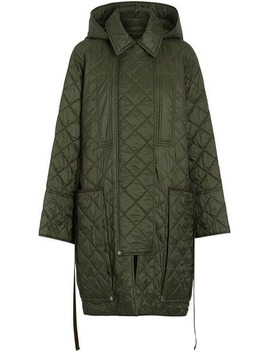 Diamond Quilted Hooded Coat by Burberry