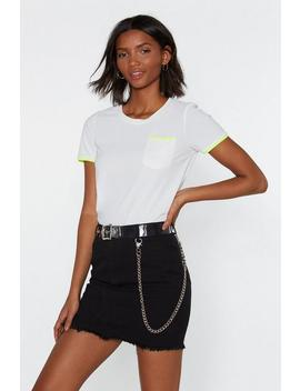 You're Neon To Something Relaxed Tee by Nasty Gal