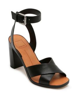 Nala Ankle Strap Leather Sandals by Dolce Vita