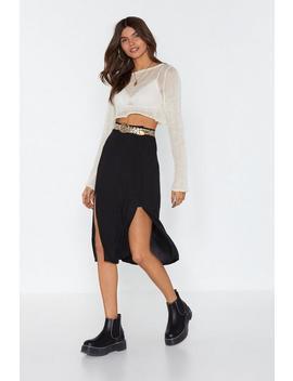 Part Ways Slit Midi Skirt by Nasty Gal