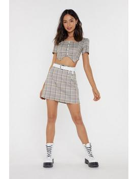 Check Yourself Mini Skirt by Nasty Gal