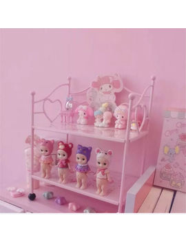 My Melody Pink Small Iron Frame Storage Rack Desktop Finishing Rack Holiday Gift by Unbranded