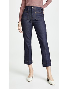 Raquel Patch Pocket Crop Jeans by Khaite