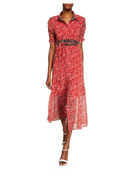 Frontier Floral Midi Dress W/ Self Tie by Nanette Lepore