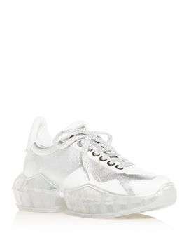 Women's Diamond Low Top Sneakers by Jimmy Choo