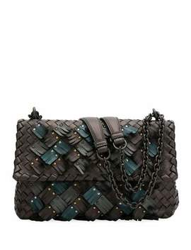 Bottega Veneta Olimpia Small Plume Woven Leather Shoulder Bag by Bottega Veneta