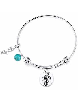 """Stainless Steel Expandable """"Dance Like Nobody Is Watching"""" Bangle Bracelet by My Obsession"""