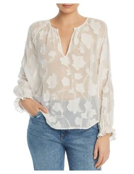 Adison Semi Sheer Floral Embroidered Top by Joie