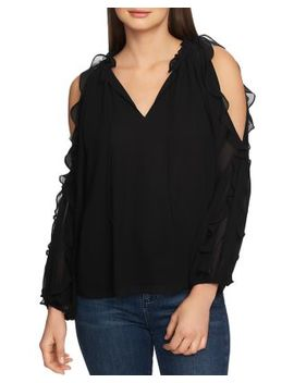 Ruffled Cold Shoulder Top by 1.State