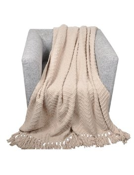 Jupiter Knit Zig Zag Textured Woven Throw by Wayfair