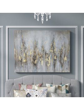 'gleaming Gold' Oil Painting Print On Wrapped Canvas by Wayfair