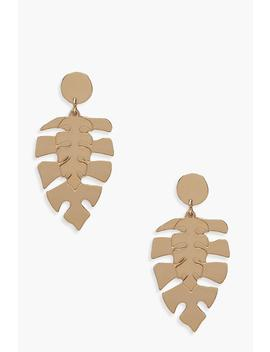 Double Leaf Earrings by Boohoo