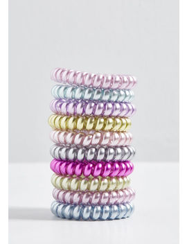 Delightful Night In Coil Hair Tie Set by Modcloth
