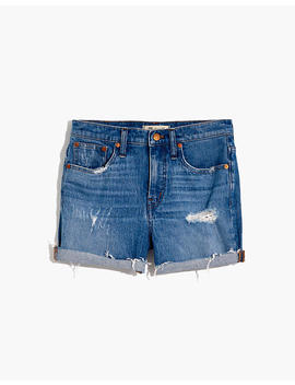 High Rise Denim Shorts In Jordie Wash by Madewell