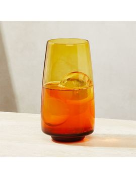 Byrdie Amber Highball Glass by Crate&Barrel