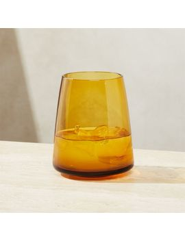 Byrdie Amber Double Old Fashioned Glass by Crate&Barrel