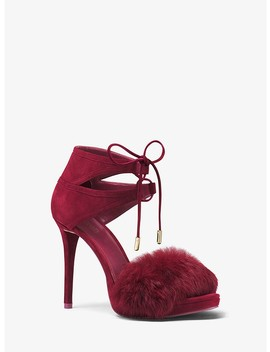 Remi Fur And Suede Sandal by Michael Michael Kors