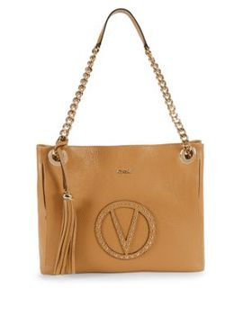 Luisa Studded Leather Tote by Valentino By Mario Valentino