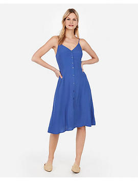 Button Front Midi Slip Dress by Express