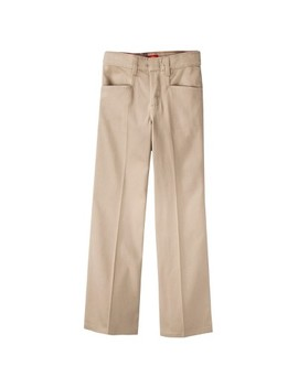Dickies Girls' Classic Fit Stretch Boot Cut Uniform Chino Pants by Dickies