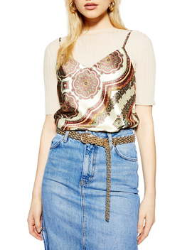 Paisley Print Camisole by Topshop