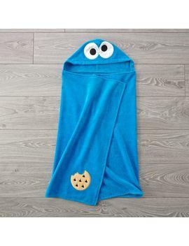 Sesame Street Cookie Monster Hooded Towel by Crate&Barrel