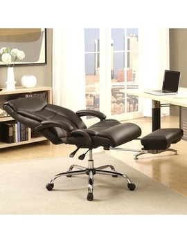 Executive Adjustable Reclining Office Chair With Incremental Footrest by Generic