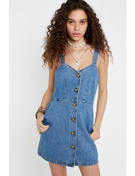 Uo Amy Denim Mini Dress by Urban Outfitters