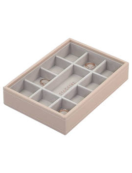 Stackers Mini 11 Section Jewellery Tray, Pink by Stackers