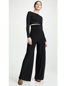 High Waist Pleat Pants by Norma Kamali
