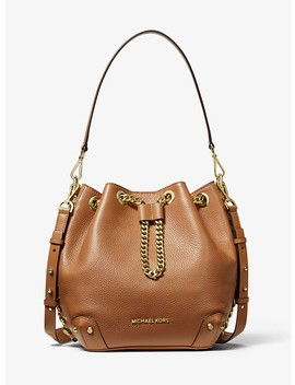 Alanis Medium Pebbled Leather Bucket Bag by Michael Michael Kors
