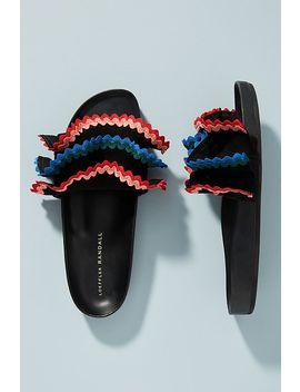 Loeffler Randall Olive Ruffle Slide Sandals by Loeffler Randall