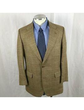 Brooks Brothers Glen Plaid Windowpane Wool Blazer Sport Coat Wool/Silk/Linen 42 L by Brooks Brothers