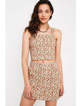 Bdg Strawberry Denm Mini Skirt by Bdg