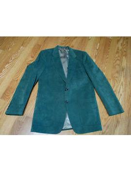 Kingsbridge R. J. Pope Green Suede Coat Blazer Jacket Mens by Knightsbridge